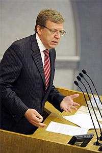 Алексей Кудрин во время выступления на пленарном заседании Государственной думы РФ 7 июля 2010 года